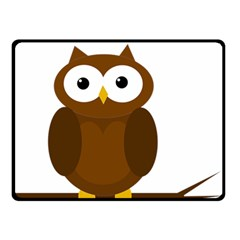 Cute transparent brown owl Double Sided Fleece Blanket (Small)