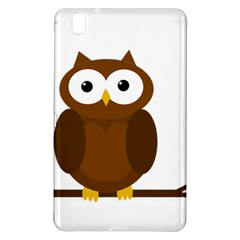 Cute transparent brown owl Samsung Galaxy Tab Pro 8.4 Hardshell Case