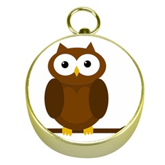 Cute transparent brown owl Gold Compasses