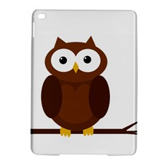 Cute transparent brown owl iPad Air 2 Hardshell Cases