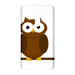 Cute transparent brown owl LG G3 Back Case