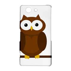 Cute transparent brown owl Sony Xperia Z3 Compact