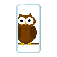 Cute transparent brown owl Apple Seamless iPhone 6/6S Case (Color)