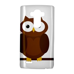 Cute transparent brown owl LG G4 Hardshell Case