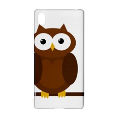 Cute transparent brown owl Sony Xperia Z3+