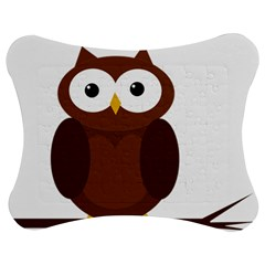 Cute transparent brown owl Jigsaw Puzzle Photo Stand (Bow)