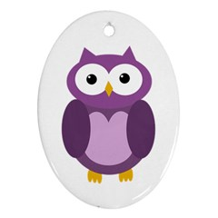 Purple transparetn owl Ornament (Oval)