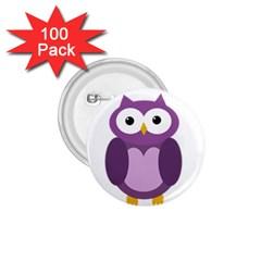 Purple transparetn owl 1.75  Buttons (100 pack)