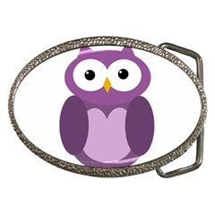 Purple transparetn owl Belt Buckles