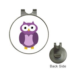 Purple transparetn owl Hat Clips with Golf Markers