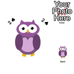 Purple transparetn owl Playing Cards 54 (Heart)