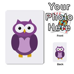 Purple transparetn owl Multi-purpose Cards (Rectangle)