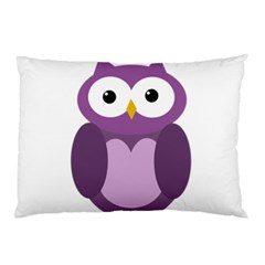 Purple transparetn owl Pillow Case