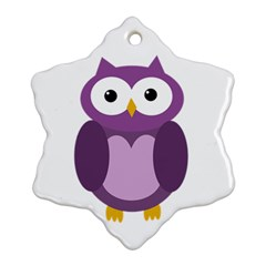Purple transparetn owl Snowflake Ornament (2-Side)