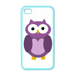 Purple transparetn owl Apple iPhone 4 Case (Color)