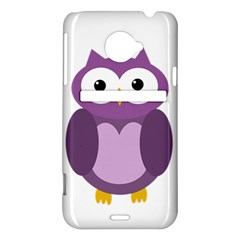 Purple transparetn owl HTC Evo 4G LTE Hardshell Case