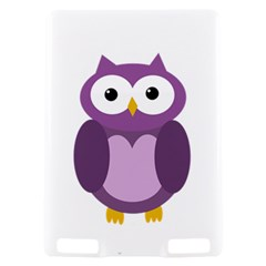 Purple transparetn owl Kindle Touch 3G