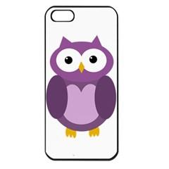 Purple transparetn owl Apple iPhone 5 Seamless Case (Black)