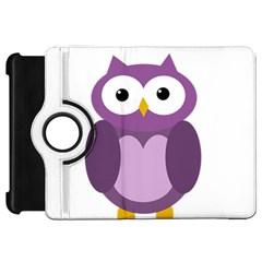 Purple transparetn owl Kindle Fire HD Flip 360 Case