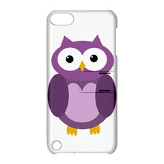 Purple transparetn owl Apple iPod Touch 5 Hardshell Case with Stand