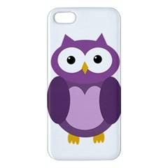 Purple transparetn owl Apple iPhone 5 Premium Hardshell Case