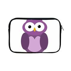 Purple transparetn owl Apple iPad Mini Zipper Cases