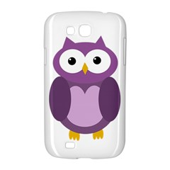 Purple transparetn owl Samsung Galaxy Grand GT-I9128 Hardshell Case