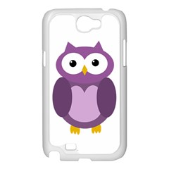 Purple transparetn owl Samsung Galaxy Note 2 Case (White)