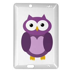 Purple transparetn owl Amazon Kindle Fire HD (2013) Hardshell Case