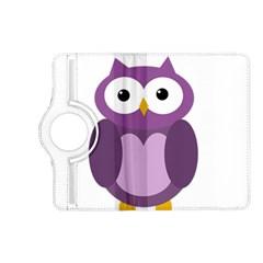 Purple transparetn owl Kindle Fire HD (2013) Flip 360 Case