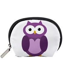 Purple transparetn owl Accessory Pouches (Small)