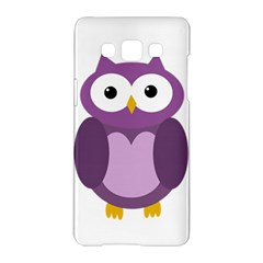 Purple transparetn owl Samsung Galaxy A5 Hardshell Case