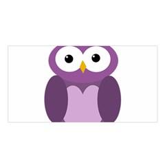 Purple transparetn owl Satin Shawl