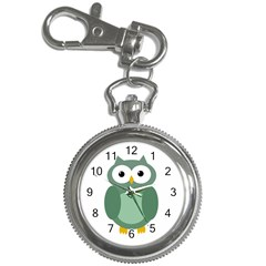 Green cute transparent owl Key Chain Watches