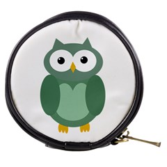 Green cute transparent owl Mini Makeup Bags