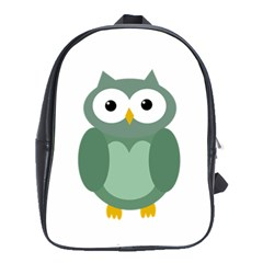 Green cute transparent owl School Bags(Large)