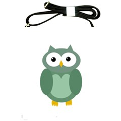 Green cute transparent owl Shoulder Sling Bags