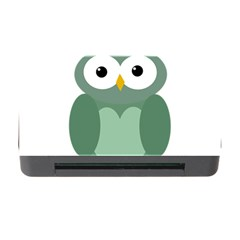 Green cute transparent owl Memory Card Reader with CF