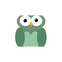 Green cute transparent owl YOU ARE INVITED 3D Greeting Card (8x4)