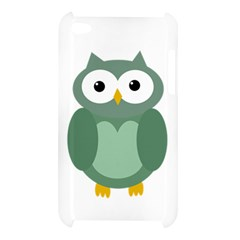 Green cute transparent owl Apple iPod Touch 4