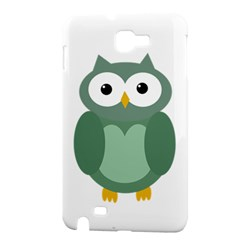 Green cute transparent owl Samsung Galaxy Note 1 Hardshell Case