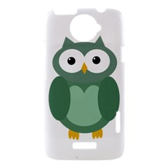 Green cute transparent owl HTC One X Hardshell Case