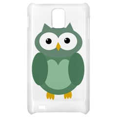Green cute transparent owl Samsung Infuse 4G Hardshell Case
