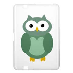 Green cute transparent owl Kindle Fire HD 8.9