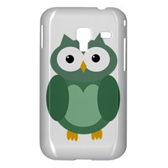 Green cute transparent owl Samsung Galaxy Ace Plus S7500 Hardshell Case