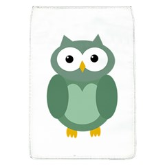 Green cute transparent owl Flap Covers (L)