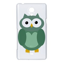 Green cute transparent owl Sony Xperia T