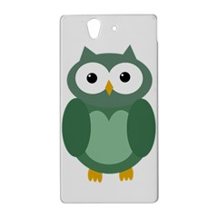 Green cute transparent owl Sony Xperia Z