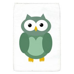 Green cute transparent owl Flap Covers (S)