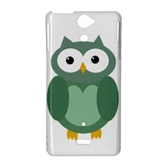 Green cute transparent owl Sony Xperia V